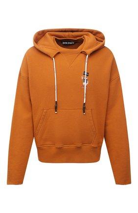 Мужской хлопковое худи PALM ANGELS оранжевого цвета, арт. PMBB104S21FLE0042201 | Фото 1