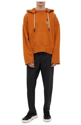 Мужской хлопковое худи PALM ANGELS оранжевого цвета, арт. PMBB104S21FLE0042201 | Фото 2