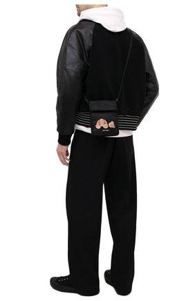 Мужская текстильная сумка PALM ANGELS черного цвета, арт. PMNN001S21FAB0021060 | Фото 2