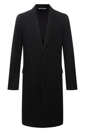 Мужской хлопковое пальто PALM ANGELS черного цвета, арт. PMEA083S21FAB0011001 | Фото 1