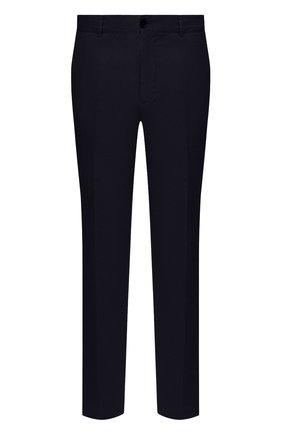 Мужские брюки из хлопка и льна PAUL&SHARK темно-синего цвета, арт. 21414042/FJD | Фото 1