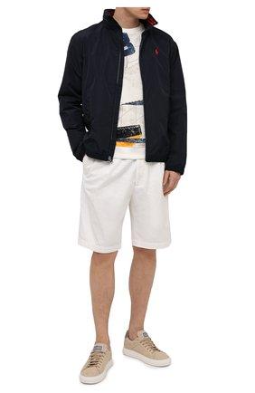 Мужской хлопковый свитшот PAUL&SHARK белого цвета, арт. 21411907/C00   Фото 2