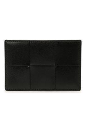 Мужской кожаный футляр для кредитных карт BOTTEGA VENETA черного цвета, арт. 649597/VBWD3 | Фото 1