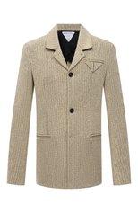 Мужской пиджак BOTTEGA VENETA бежевого цвета, арт. 656054/V00C0 | Фото 1