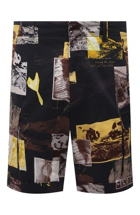 Мужские хлопковые шорты Z ZEGNA разноцветного цвета, арт. VW155/ZZ359 | Фото 1 (Длина Шорты М: До колена; Материал внешний: Хлопок; Стили: Кэжуэл; Принт: С принтом; Мужское Кросс-КТ: Шорты-одежда)