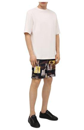 Мужские хлопковые шорты Z ZEGNA разноцветного цвета, арт. VW155/ZZ359 | Фото 2 (Длина Шорты М: До колена; Материал внешний: Хлопок; Стили: Кэжуэл; Принт: С принтом; Мужское Кросс-КТ: Шорты-одежда)
