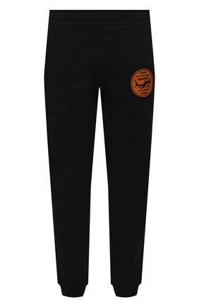 Мужские хлопковые джоггеры BURBERRY черного цвета, арт. 8040706 | Фото 1