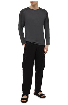 Мужская лонгслив TRANSIT темно-серого цвета, арт. CFUTRN4390 | Фото 2