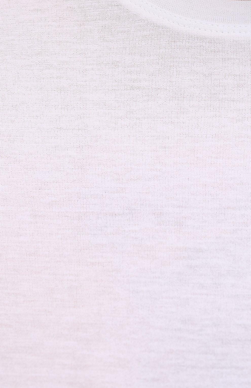Мужская хлопковая футболка KIRED белого цвета, арт. WBACI0LW7321001002/64-74   Фото 5 (Big sizes: Big Sizes; Принт: Без принта; Рукава: Короткие; Длина (для топов): Удлиненные; Материал внешний: Хлопок; Стили: Кэжуэл)