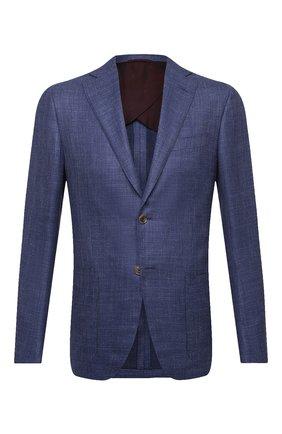 Мужской пиджак из шелка и шерсти LUCIANO BARBERA темно-синего цвета, арт. 111P25/16027 | Фото 1