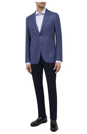 Мужской пиджак из шелка и шерсти LUCIANO BARBERA темно-синего цвета, арт. 111P25/16027 | Фото 2