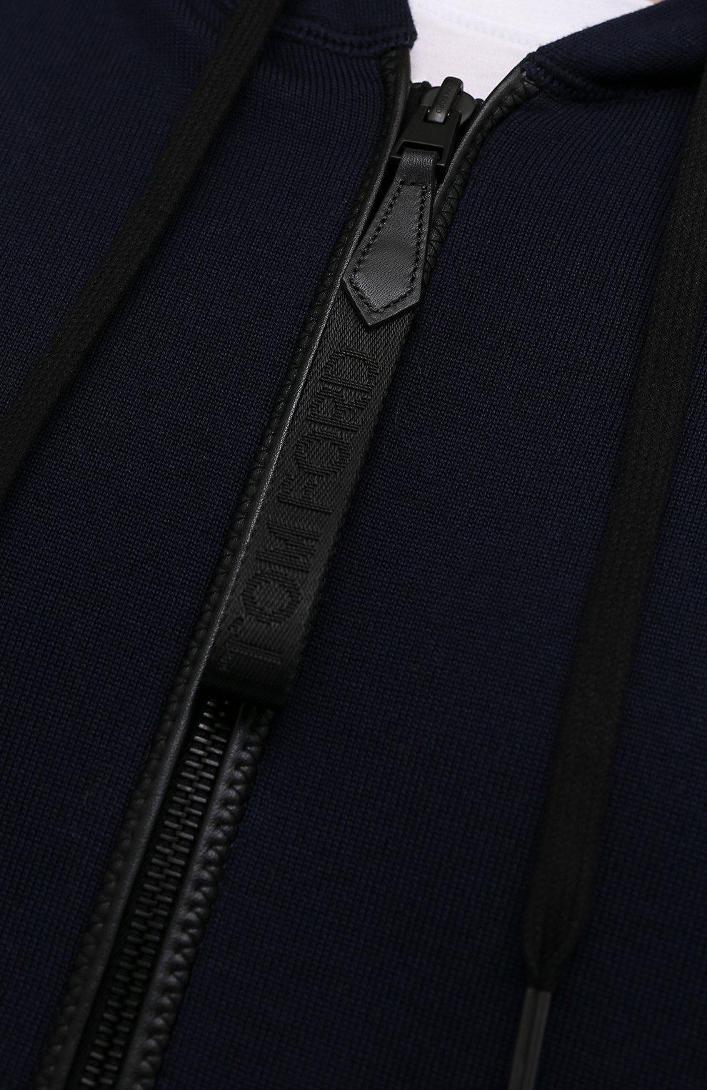 Мужской толстовка из хлопка и кашемира TOM FORD темно-синего цвета, арт. BWF22/TFK357 | Фото 5