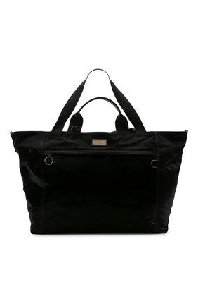 Мужская текстильная дорожная сумка nero sicilia dna DOLCE & GABBANA черного цвета, арт. BM1958/A0243 | Фото 1