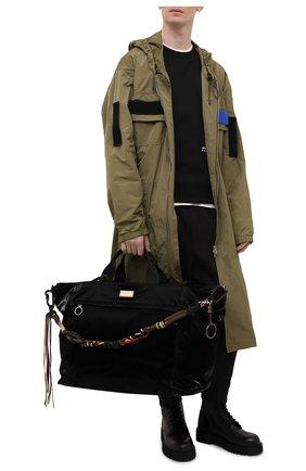 Мужская текстильная дорожная сумка nero sicilia dna DOLCE & GABBANA черного цвета, арт. BM1958/A0243 | Фото 2