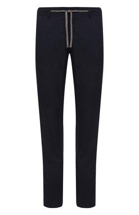 Мужские шерстяные брюки CANALI темно-синего цвета, арт. V1659/EW03221   Фото 1