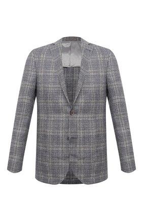 Мужской пиджак изо льна и шерсти CORNELIANI серого цвета, арт. 87XY72-1116910/90   Фото 1