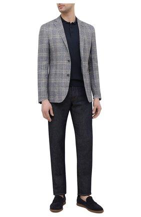 Мужской пиджак изо льна и шерсти CORNELIANI серого цвета, арт. 87XY72-1116910/90   Фото 2
