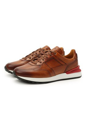 Мужские кожаные кроссовки MAGNANNI коричневого цвета, арт. 22926/B0LTAN | Фото 1