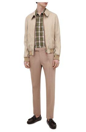 Мужские кожаные мокасины RALPH LAUREN темно-коричневого цвета, арт. 815835902 | Фото 2