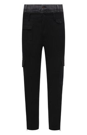 Мужские хлопковые брюки-карго DOLCE & GABBANA черного цвета, арт. GWGRXT/GEQ02 | Фото 1