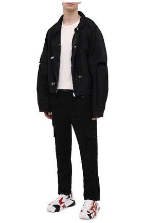 Мужские хлопковые брюки-карго DOLCE & GABBANA черного цвета, арт. GWGRXT/GEQ02 | Фото 2