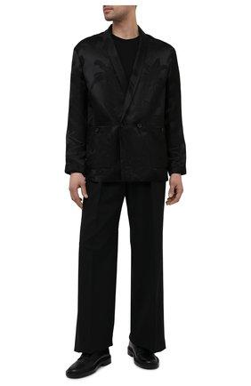 Мужской пиджак из вискозы и шелка SAINT LAURENT черного цвета, арт. 642391/Y1C55 | Фото 2