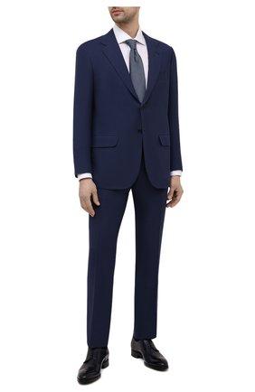 Мужской костюм из шерсти викуньи KITON синего цвета, арт. UA81K06I61/VVIC | Фото 1