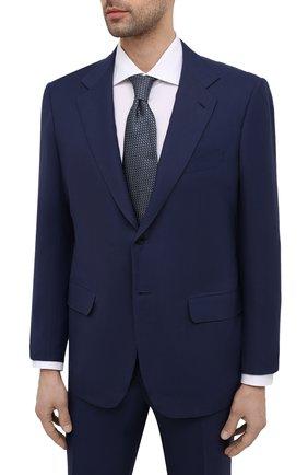 Мужской костюм из шерсти викуньи KITON синего цвета, арт. UA81K06I61/VVIC | Фото 2