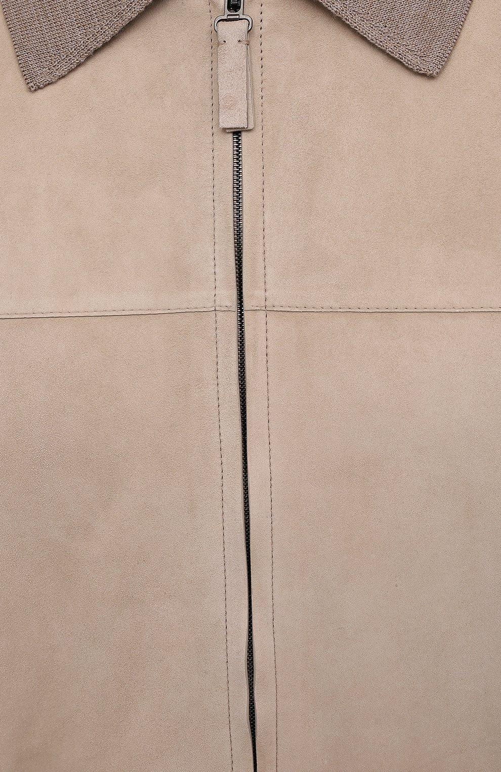 Мужской комбинированный кардиган BRIONI бежевого цвета, арт. UMIK0L/P0K28 | Фото 5