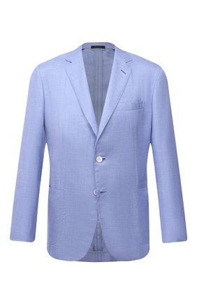 Мужской пиджак из шелка и кашемира BRIONI голубого цвета, арт. RGL50Q/P0305/PLUME | Фото 1