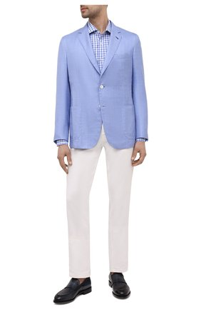 Мужской пиджак из шелка и кашемира BRIONI голубого цвета, арт. RGL50Q/P0305/PLUME | Фото 2
