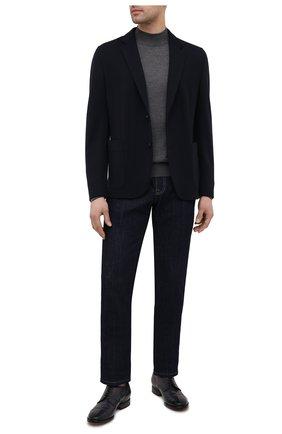 Мужские кожаные дерби OFFICINE CREATIVE темно-синего цвета, арт. PR0VIDENCE/014/AER0 CANY0N | Фото 2 (Мужское Кросс-КТ: Броги-обувь; Материал внутренний: Натуральная кожа; Стили: Классический)