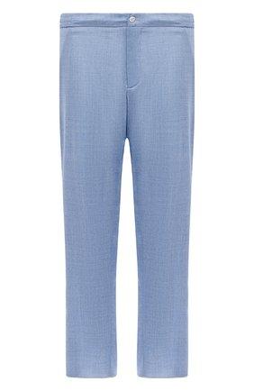 Мужские шерстяные брюки MARCO PESCAROLO голубого цвета, арт. CHIAIAM/4328 | Фото 1 (Длина (брюки, джинсы): Стандартные; Материал внешний: Шерсть; Big sizes: Big Sizes; Силуэт М (брюки): Чиносы; Случай: Повседневный; Стили: Кэжуэл)