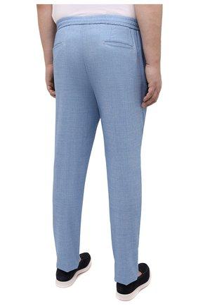 Мужские шерстяные брюки MARCO PESCAROLO голубого цвета, арт. CHIAIAM/4328   Фото 4 (Big sizes: Big Sizes; Материал внешний: Шерсть; Силуэт М (брюки): Чиносы; Длина (брюки, джинсы): Стандартные; Случай: Повседневный; Стили: Кэжуэл)
