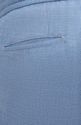 Мужские шерстяные брюки MARCO PESCAROLO голубого цвета, арт. CHIAIAM/4328   Фото 5 (Big sizes: Big Sizes; Материал внешний: Шерсть; Силуэт М (брюки): Чиносы; Длина (брюки, джинсы): Стандартные; Случай: Повседневный; Стили: Кэжуэл)