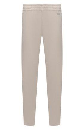 Мужские хлопковые брюки Z ZEGNA кремвого цвета, арт. VW413/ZZP13 | Фото 1 (Материал внешний: Хлопок; Длина (брюки, джинсы): Стандартные; Мужское Кросс-КТ: Брюки-трикотаж; Случай: Повседневный; Стили: Спорт-шик)