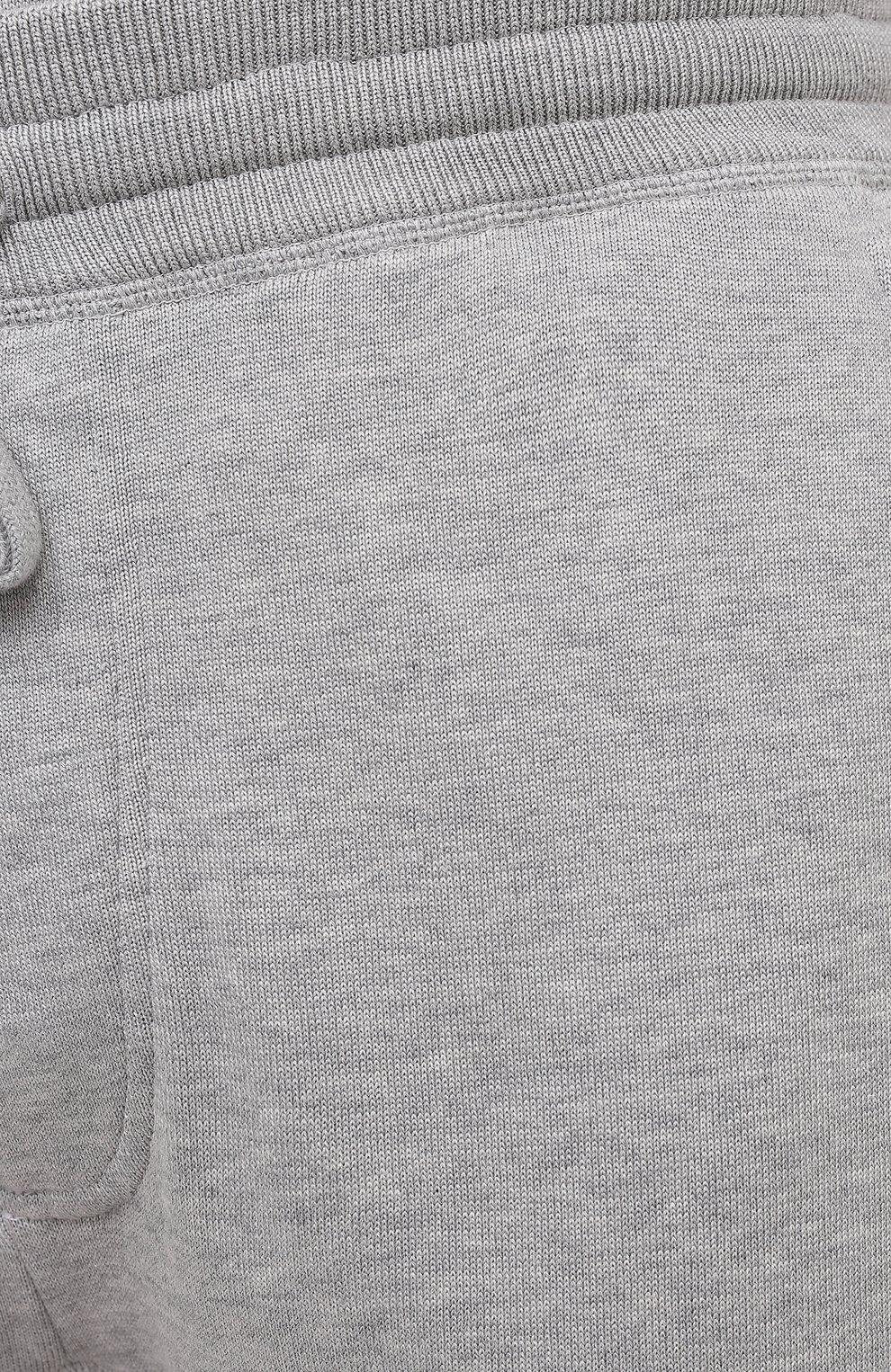 Мужские джоггеры из хлопка и шелка TOM FORD светло-серого цвета, арт. BWT21/TFKTR0 | Фото 5