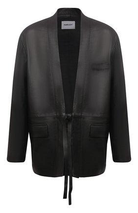Мужская кожаная куртка AMBUSH черного цвета, арт. BMJE001S21LEA002 | Фото 1