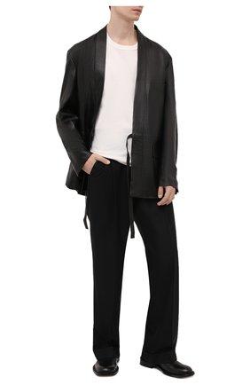 Мужская кожаная куртка AMBUSH черного цвета, арт. BMJE001S21LEA002 | Фото 2