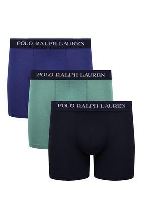 Мужские комплект из трех боксеров POLO RALPH LAUREN разноцветного цвета, арт. 714830300/002 | Фото 1