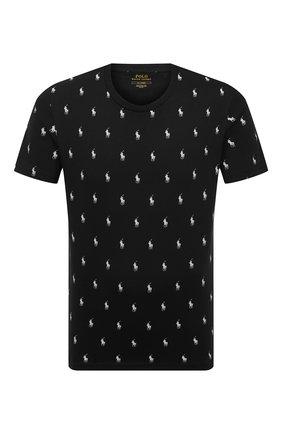 Мужская хлопковая футболка POLO RALPH LAUREN черного цвета, арт. 714830281   Фото 1