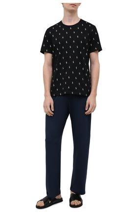 Мужская хлопковая футболка POLO RALPH LAUREN черного цвета, арт. 714830281   Фото 2