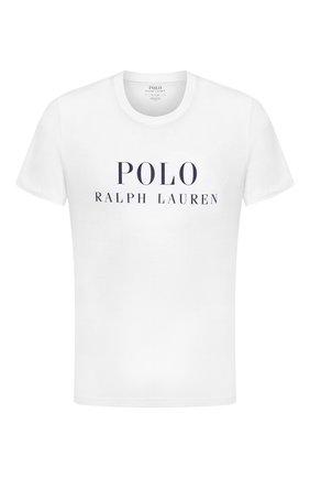 Мужская хлопковая футболка POLO RALPH LAUREN белого цвета, арт. 714830278 | Фото 1