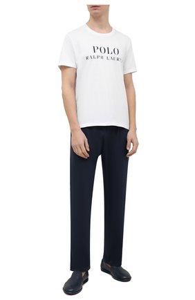 Мужская хлопковая футболка POLO RALPH LAUREN белого цвета, арт. 714830278 | Фото 2