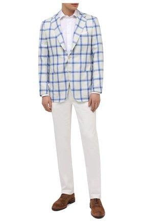 Мужской пиджак из кашемира и шелка KITON голубого цвета, арт. UG81K06T02 | Фото 2