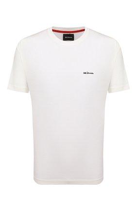 Мужская хлопковая футболка KITON белого цвета, арт. UK1274L | Фото 1