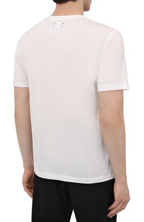 Мужская хлопковая футболка KITON белого цвета, арт. UK1274L   Фото 4