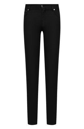 Мужские брюки KITON черного цвета, арт. UPNJSJ07T45 | Фото 1