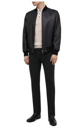 Мужские брюки KITON черного цвета, арт. UPNJSJ07T45 | Фото 2