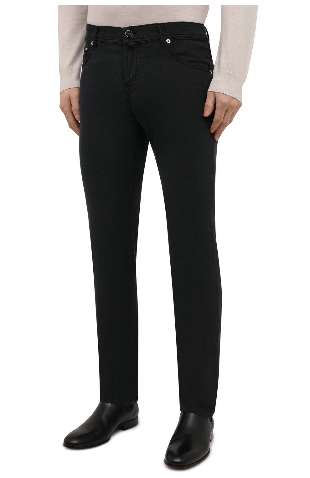 Мужские брюки KITON черного цвета, арт. UPNJSJ07T45 | Фото 3